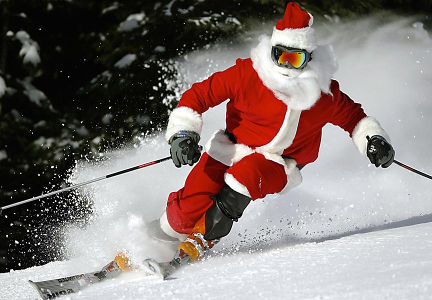 ski with santa