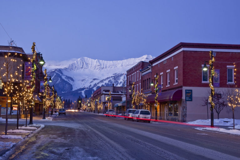 View of the resort from history downtown Fernie